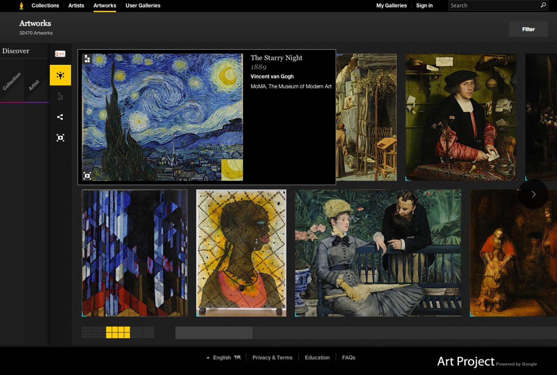 Google Art Project: лучшие картины мира онлайн