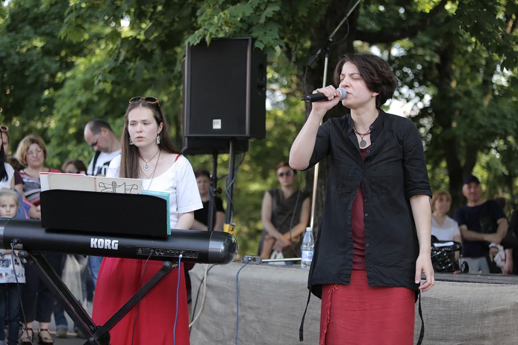 Концерт на Дне в Саду (выступает Агата Вильчик)
