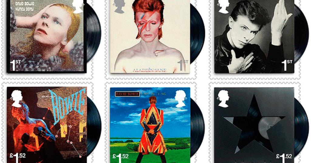 Почтовые марки в честь Дэвида Боуи