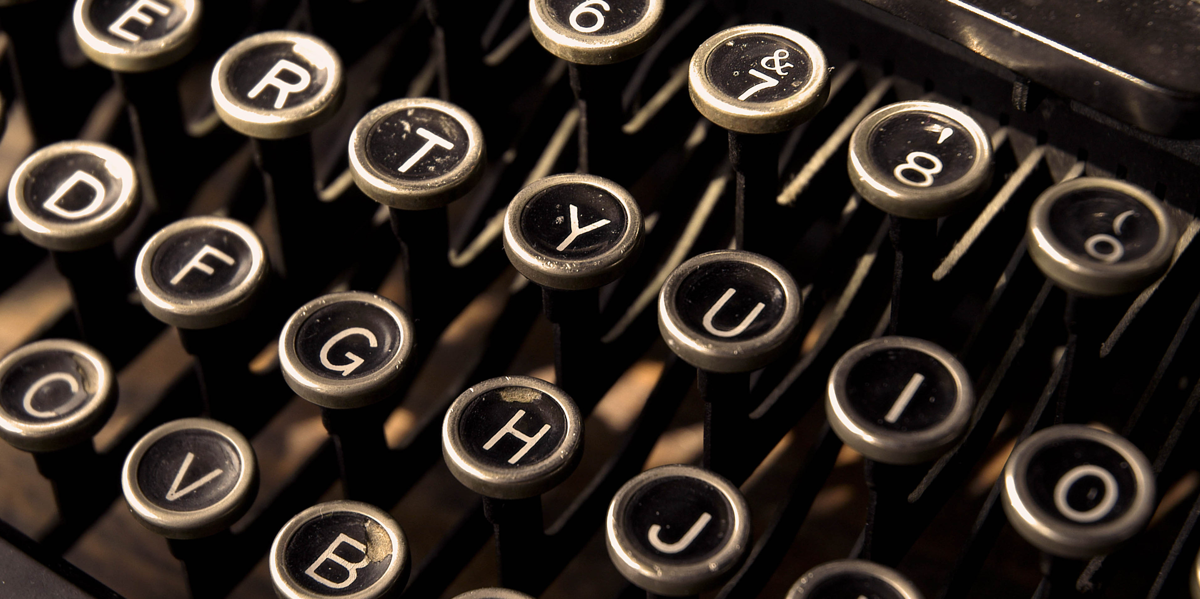 Old typewriter keys. ©Robin Nelson