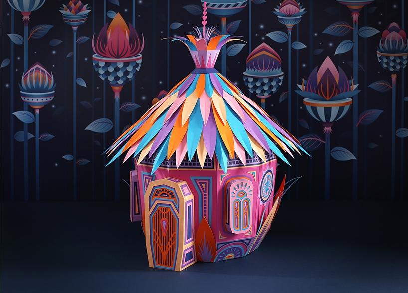 Бумажный мир от французских художников в витринах Hermès