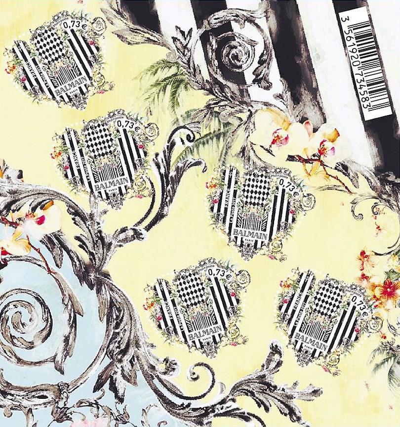 Почтовые марки от креативного директора Balmain