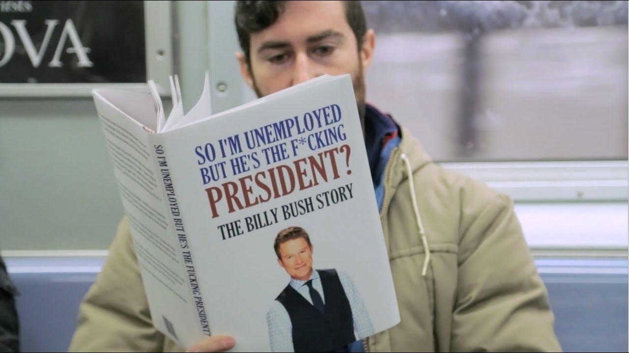 Реакция пассажиров метро на книги с провокационными названиями