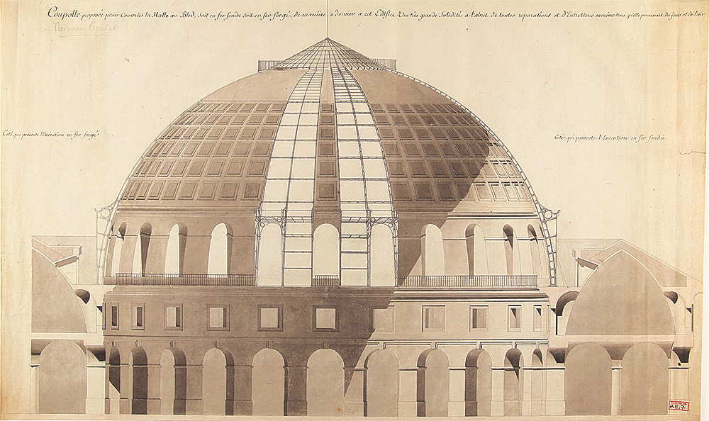The architect Jakob Ignaz Hittorff's drawing of the Bourse du Commerce's cupola