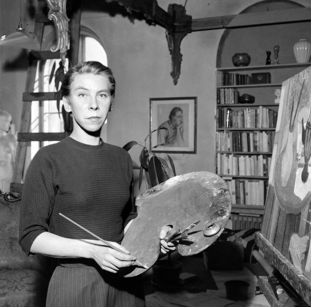 Writer and artist Tove Jansson on 1956.