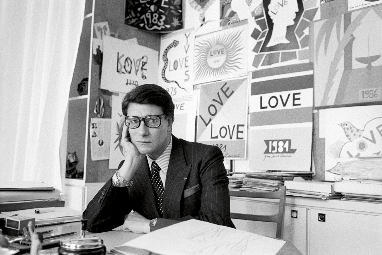 YVES SAINT LAURENT FRANCE 1986  ©Pierre Olivier DESCHAMPS/ Agence VU