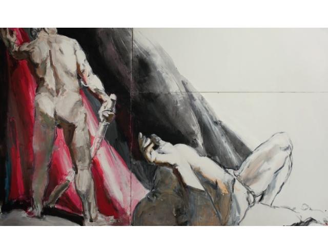 Каїн і Авель, акрил на полотні, 300 x 500 см, 2016