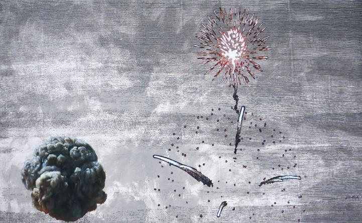 Незворотня краса 7, олія на полотні, 250 x 140 см, 2014–2015