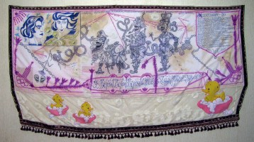 Олімпіада 80, текстиль, змiшана техніка, 136 x 82 см, 2012