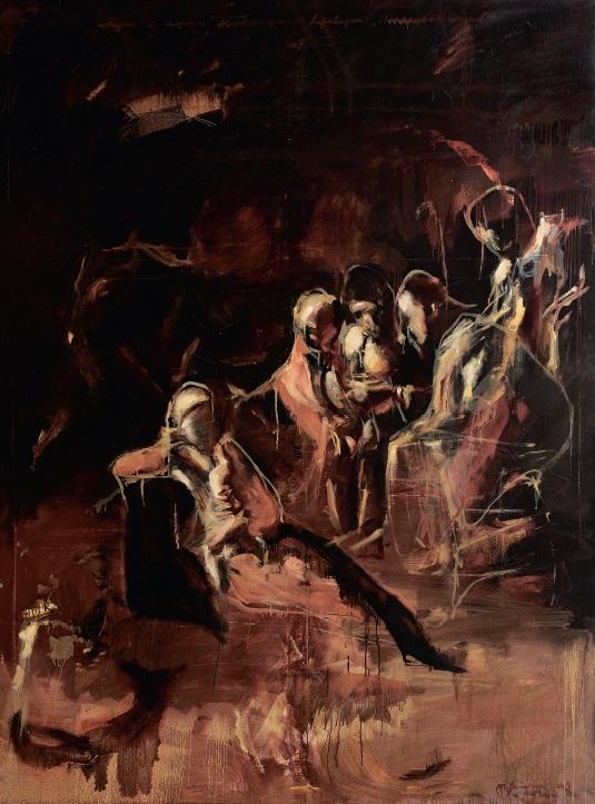 Штудія до картини Паоло Учелло «Битва при Сан-Романо», олія на полотні, 110 x 190 см, 2016