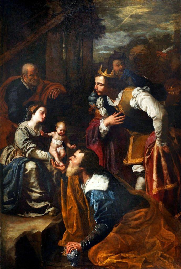 Artemisia Gentileschi / Артемизия Джентилески (1593-1653) - Adorazione dei Magi / Поклонение волхвов (около 1636-1637)