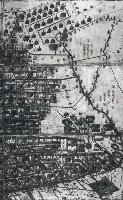 Paradiso Perduto, малюнок, багаторазове інтагліо, акрил, папір, 286 x 341 см, 2012–2014