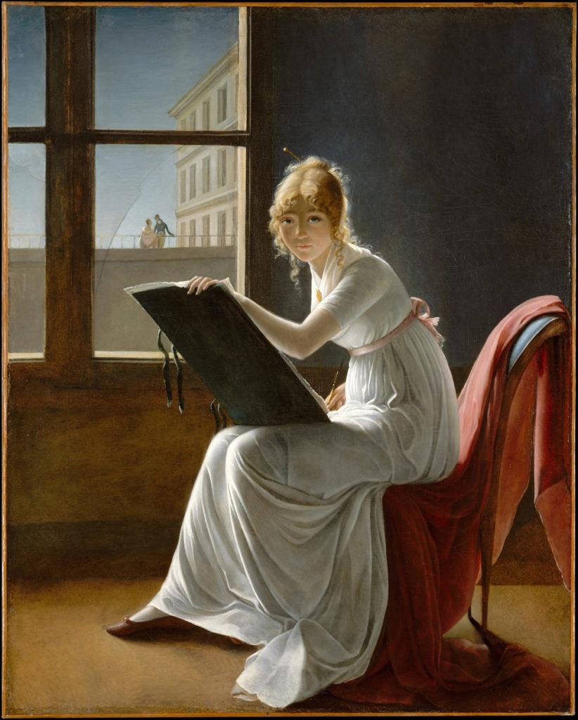 «Рисующая молодая женщина»