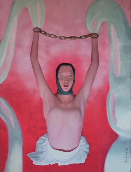Ланцюги, олія на полотні, 193 x 145 см, 1998
