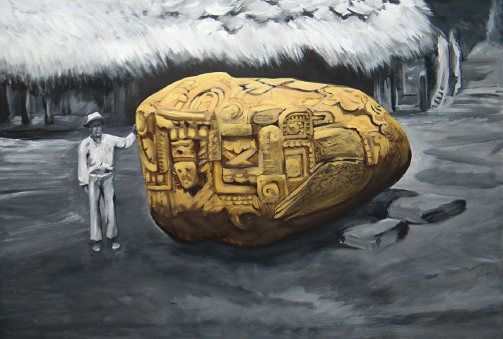Майя золото, олія на полотні, 100 x 150 см, 2011
