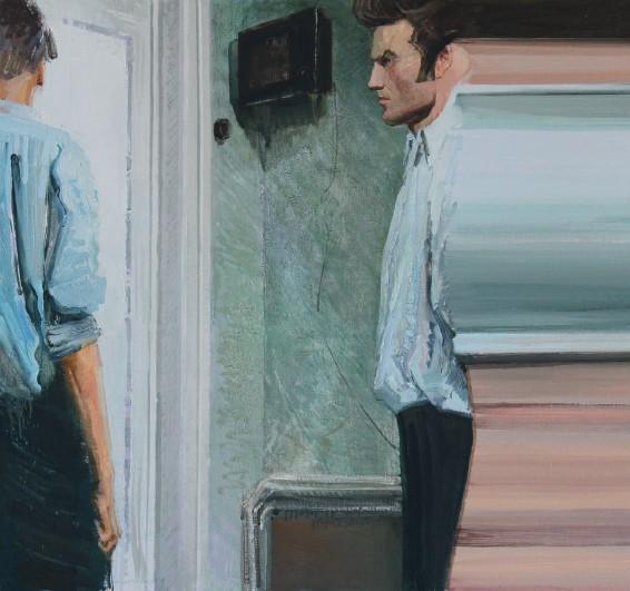 Петро, де айфон?, олія на полотні, 100 x 130 см, 2013