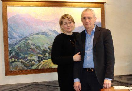 Засновник та директор з розвитку компанії АГРОМАТ Анатолій та Ольга Тадай / Фото: artslooker.com