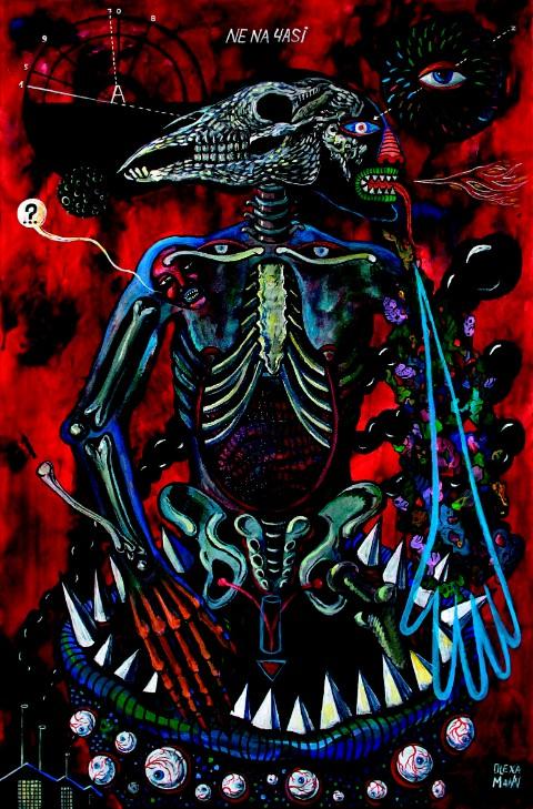 Не на часі, з проекту «Оновлена людина», полотно, акрил, 150x100 см, 2016