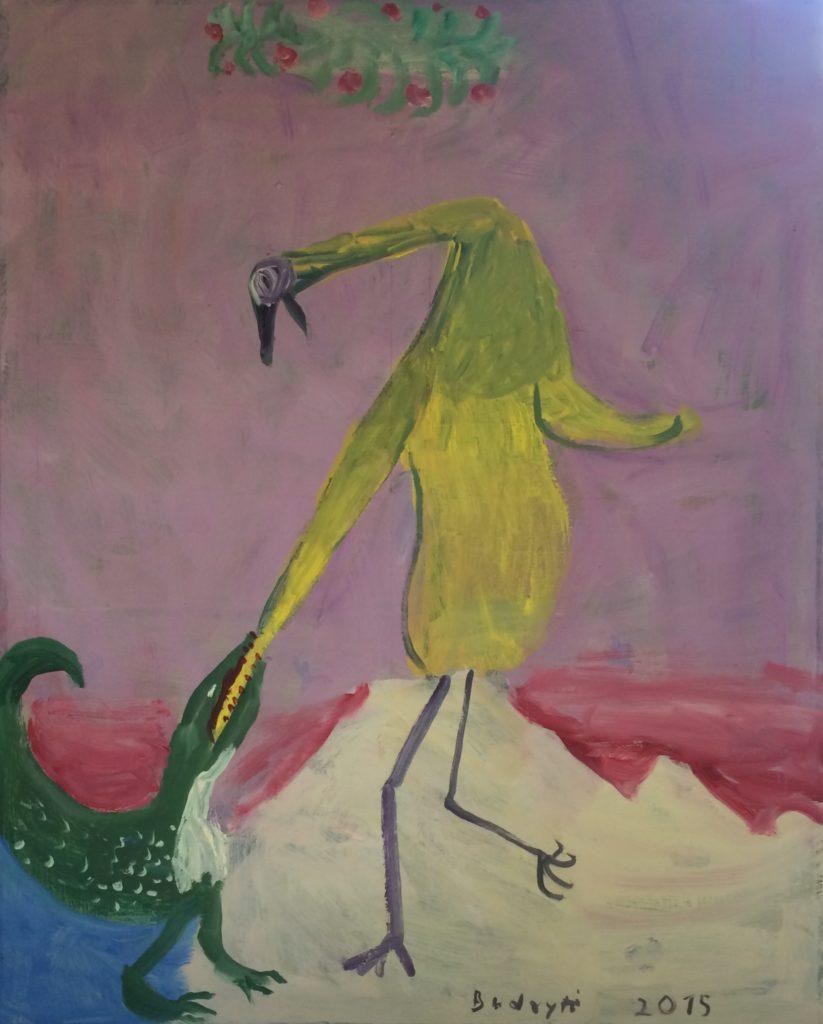 Іна Будріте. На березі озера. 2015
