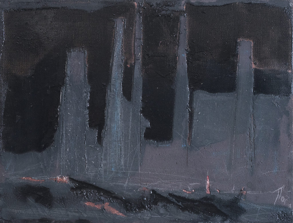 Петро Сметана. 2017, полотно, олія, акрил, емалі, лак, 40х55