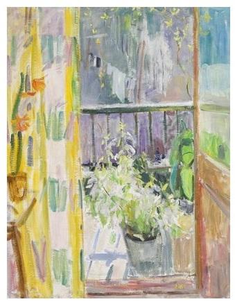 Волобуєв, На балконі, 1991, полотно-олія