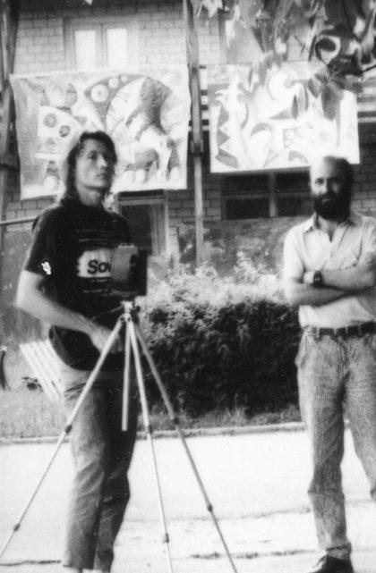 Александр Гнилицкий и Александр Соловьев. Седнев, 1989