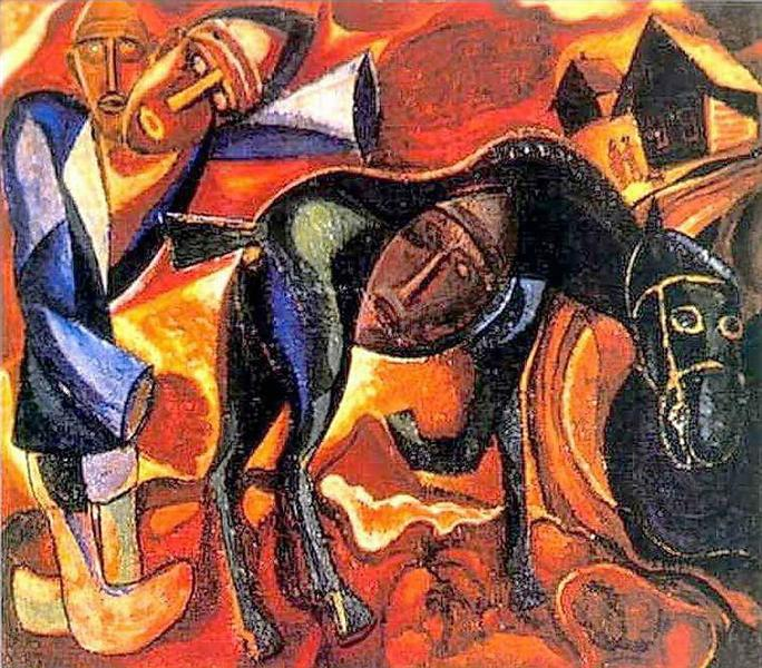 Давид Бурлюк. Пахарь. 1910