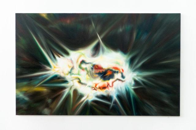 Артем Волокiтiн, Тетяна Малiновська, «ПIСЛЯОБРАЗ 8», полотно, олія, 100 × 160 см.,2018