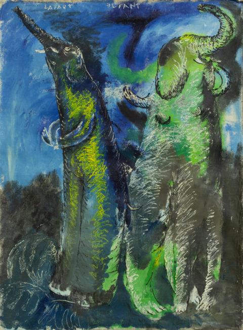 Олег Голосій, LAFAET ЭLFANT, 1989, полотно, олія, 200Х150 см, надано маєтком художника та галереєю The Naked Room