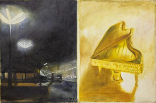 Олег Голосій, О.Т., 1992, полотно, олія, 200Х300 см, надано маєтком художника та галереєю The Naked Room