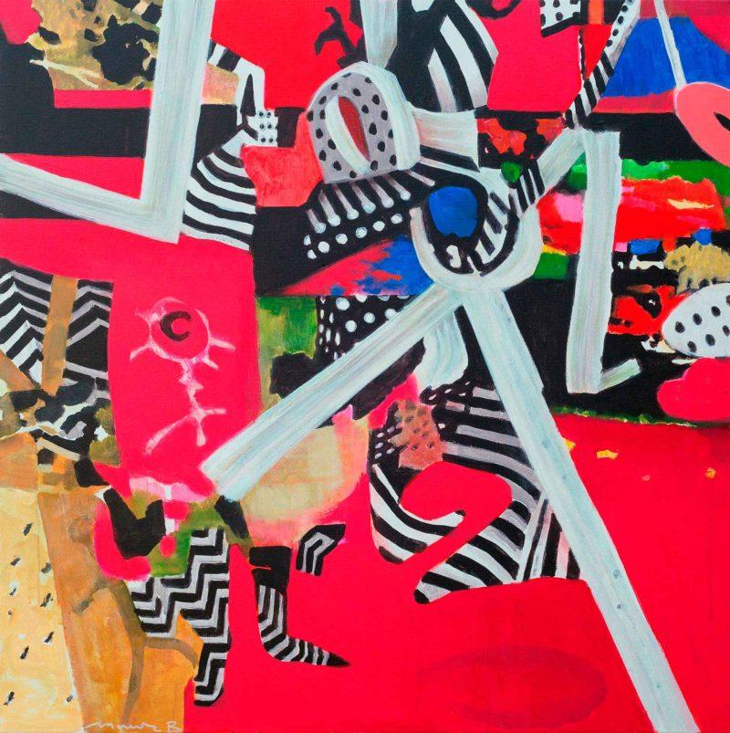 Володимир Гуліч, із серії «ЗЕМЛЯ», полотно, акрил, 120 × 120 см., 2019