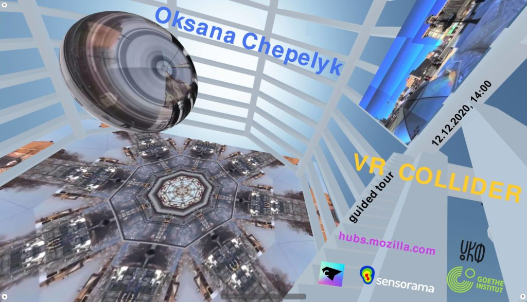 «VR Collider» Оксана Чепелик - Mozilla Hubs
